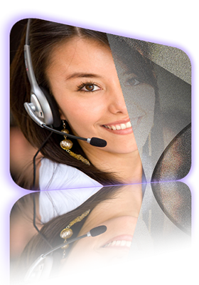 Woman Speaking on Headset